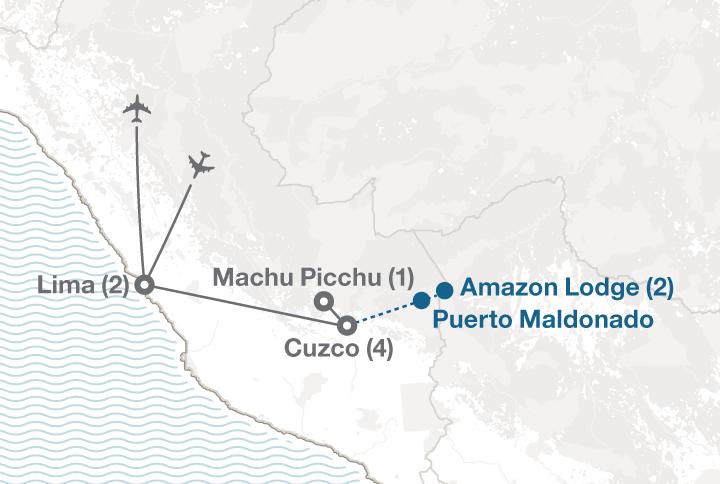 Peru tour map