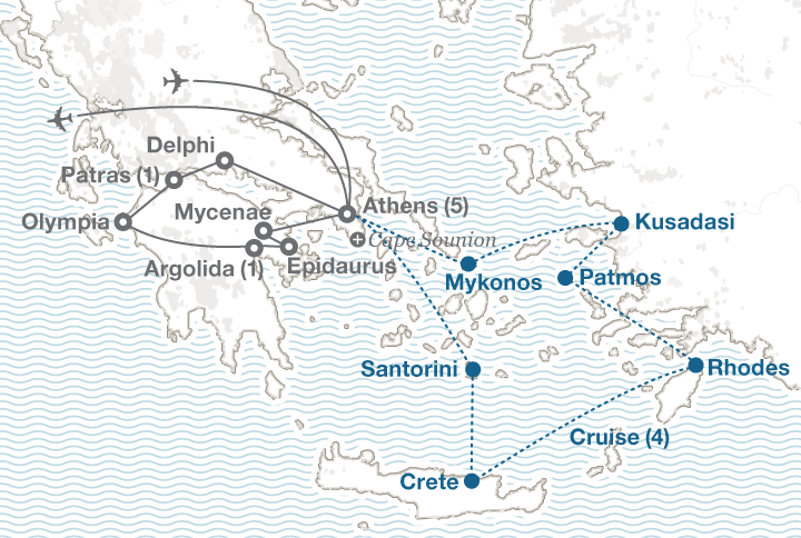 Greece tour map
