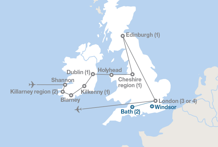Map Of England Ireland Scotland Wales.Ireland Scotland And England Ef Educational Tours Canada