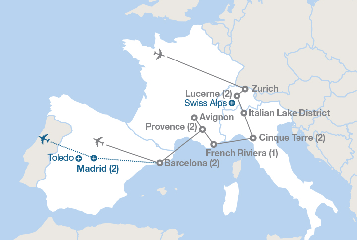Map Of France Mediterranean Coast.The Alps And The Mediterranean Coast Ef Educational Tours Canada
