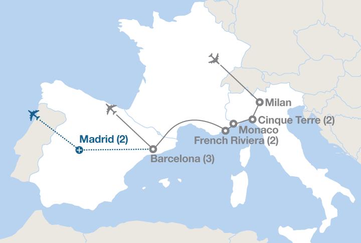 Map Of France Mediterranean Coast.Europe S Mediterranean Coast Ef Educational Tours Canada