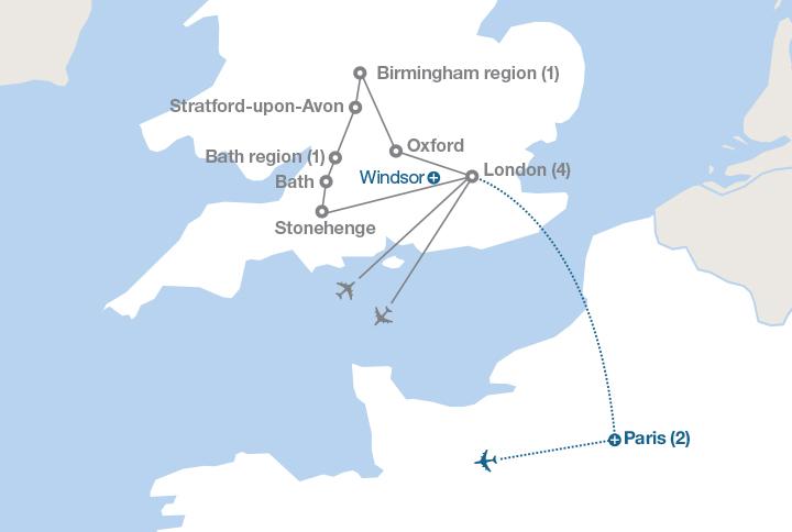 Stratford England Map.Discover England Ef Educational Tours Canada