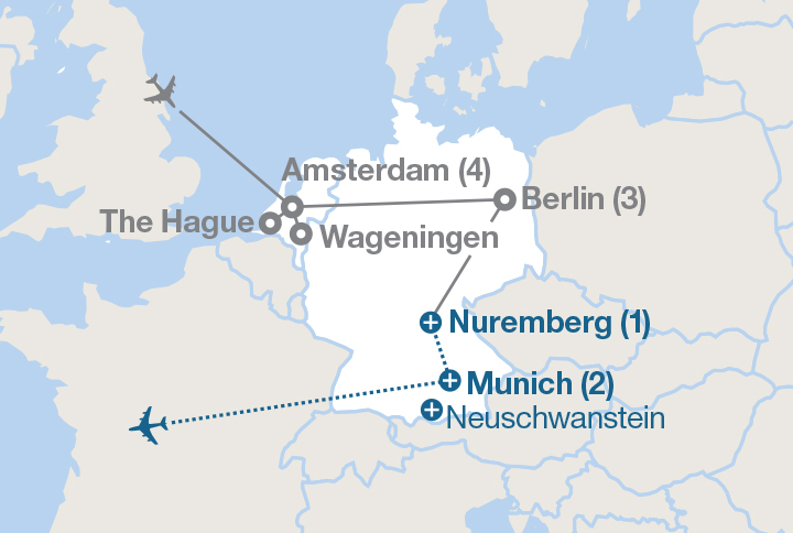 Map Of Germany And Amsterdam.Ve Day 75 Amsterdam Germany Ef Educational Tours Canada