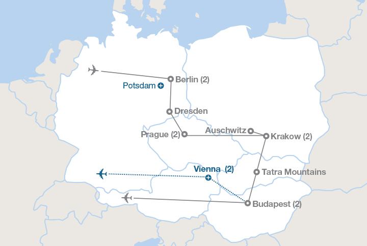Berlin Prague Krakow And Budapest EF Educational Tours - Berlin on world map