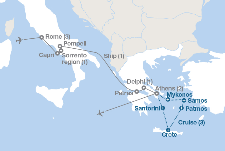 The Ancient Mediterranean Ef Tours