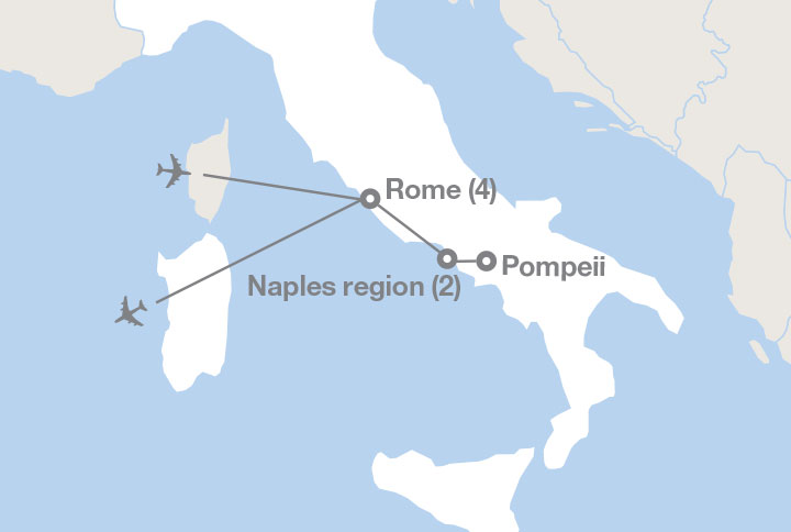 Where Is Pompeii On A Map Of Italy.Middle School Rome And Pompeii Ef Educational Tours