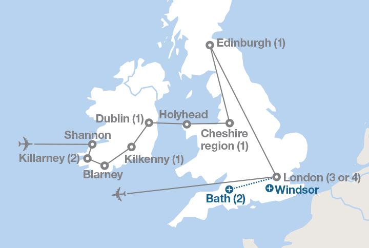 Map Of England Castles.Ireland Scotland And England Ef Educational Tours