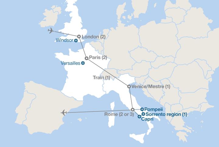 London Paris Venice And Rome EF Educational Tours - Where is rome
