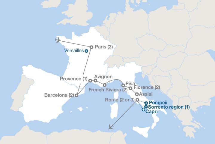 Paris and Mediterranean Europe | EF Educational Tours