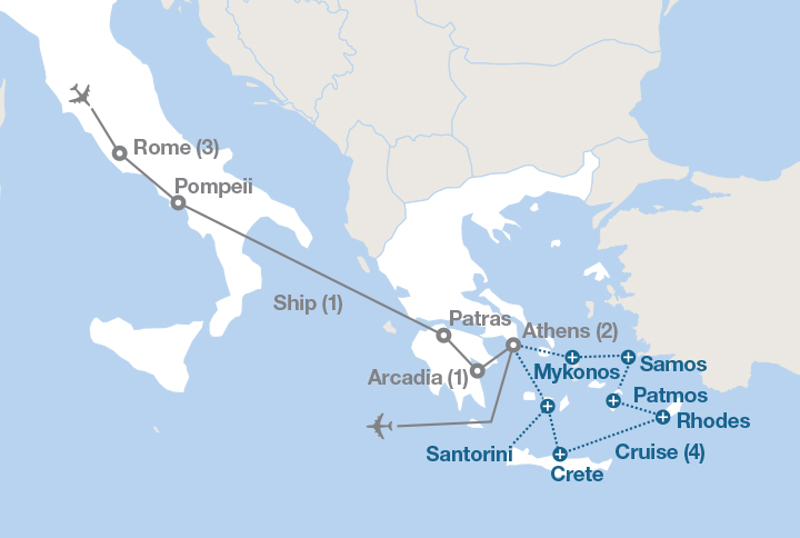 Pompeii World Map.From Rome To Athens Ef Educational Tours