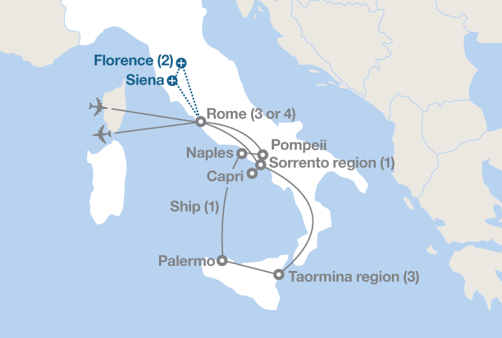 From Rome To Sicily EF Educational Tours - Where is rome