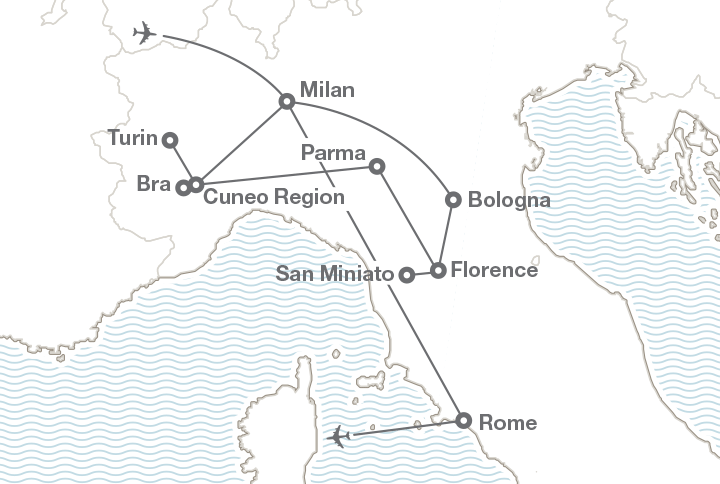 HOS 1803: Travel & Tourism in Italy, Course Itinerary